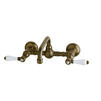 Rohl Acqui Wall Mount Bridge Lavatory Faucet Tuscan Brass