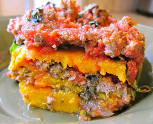 Roasted Butternut Squash & Spinach Lasagna- Grain, Dairy , Egg free
