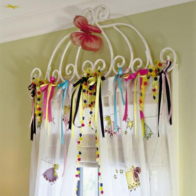 Embellish curtains with ribbon! I don't like this one...but, I like the concept