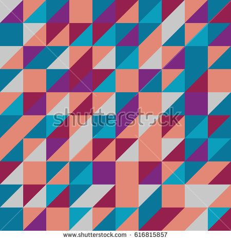 Vector red-blue abstract triangle seamless pattern texture background