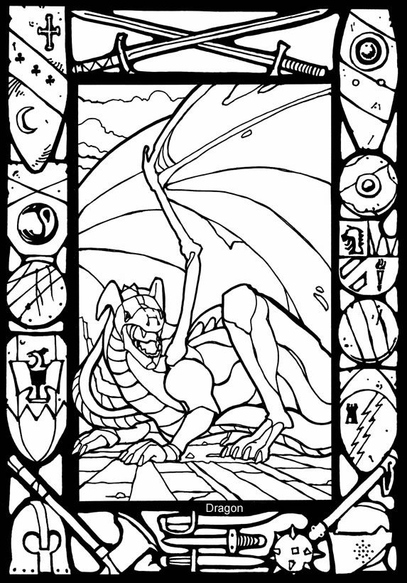 57 best images about Coloring Pages/ LineArt Dragons on ...