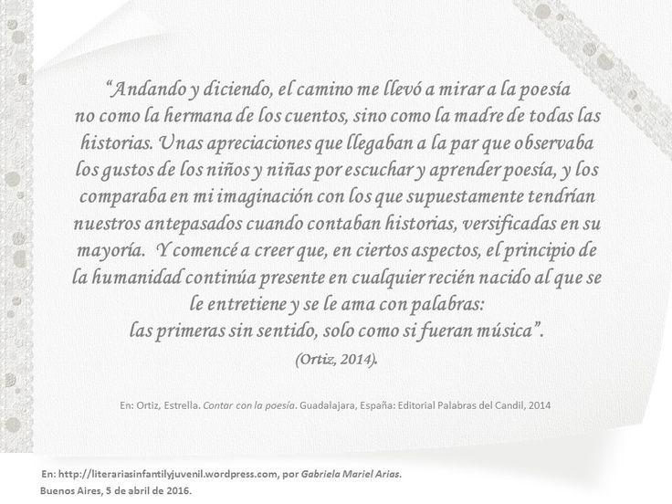 Contar con la poesía | LITERARIAS | Por Gabriela Mariel Arias