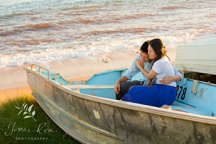 Sunrise Engagement Session with Dion & Vidi @ Jessie Rose Photography #esession #beach #love #engagementsession #boat