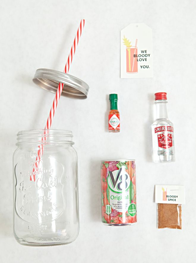 Mason Jar Bloody Mary Gift + spice mix recipe + free tags!