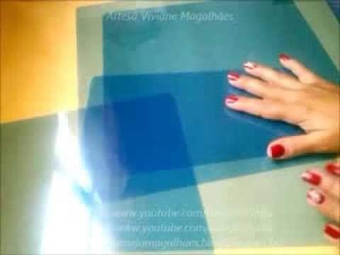 Descolorindo radiografia para fazer folha de acetato para artesanato passo a passo - YouTube