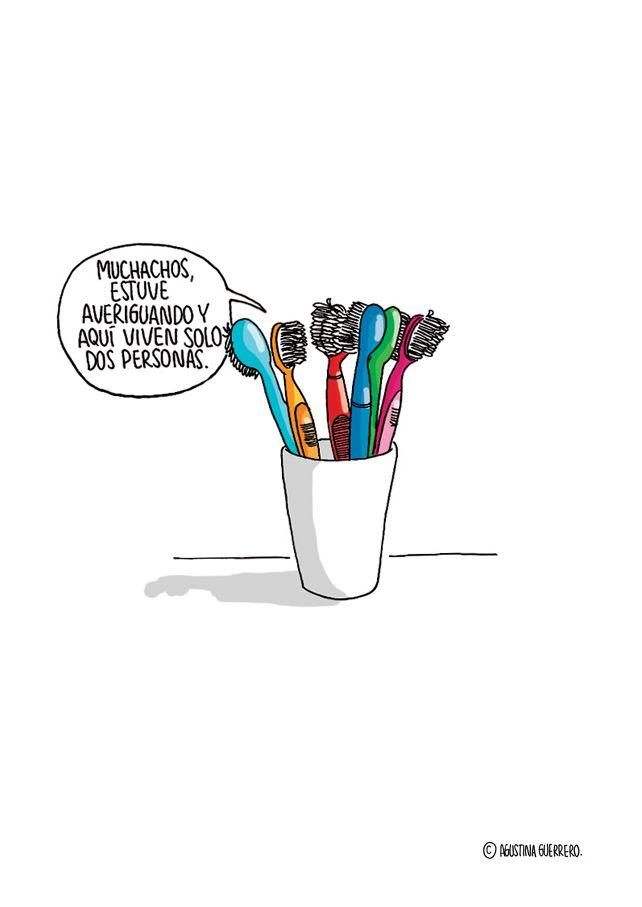 El dilema de los cepillos de dientes.