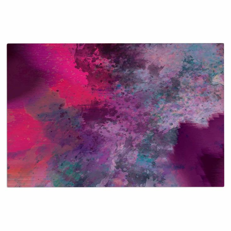 "Nina May ""Mineral Pink "" Purple Watercolor Decorative Door Mat"
