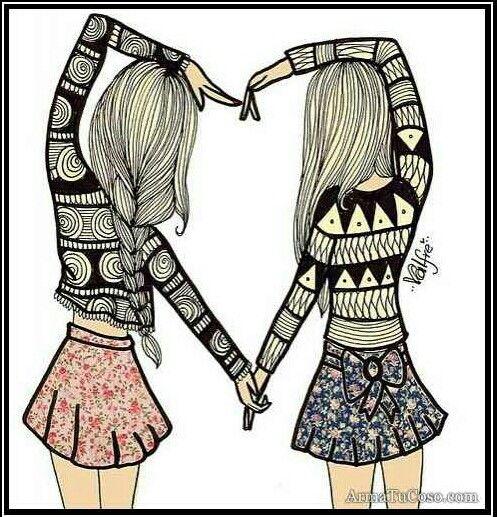 Las mejores amigas se cuentan con una sola mano #MejoresAmigas