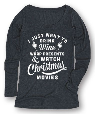 Another great find on #zulily! Heather Blue 'Christmas Movies' Long-Sleeve Tee #zulilyfinds