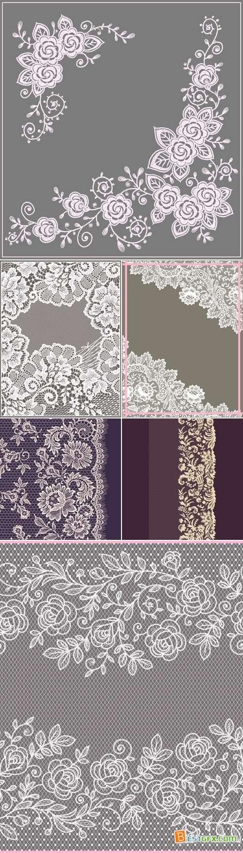 Lace Backgrounds Vector 5