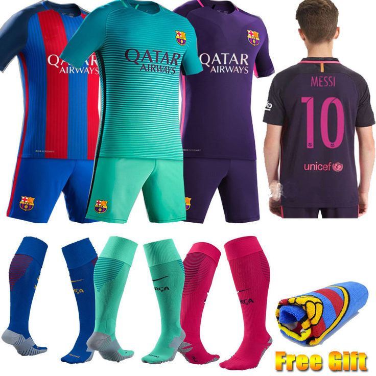 """"""" Kids Soccer Team Suit New Home Away Jersey For Youth 3-14 Yrs Football Kit #Unbranded #soccersuits #youth. #Kids """""""