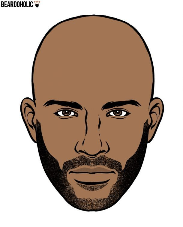 Black Men Mid Stubble Beard Styles