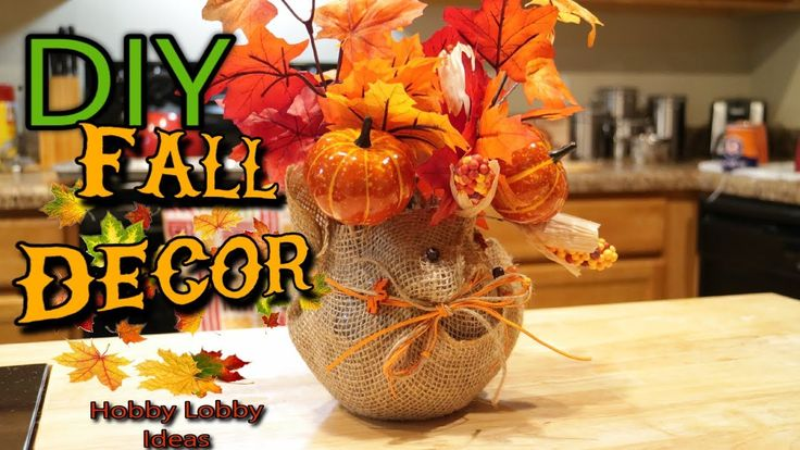 DIY Fall Decor | How To Make A Fall Accent Piece | Hobby Lobby Ideas   #subscribe #fallseason #fall2017 #fall #falldecor #autumn #diy #decor #decoration #farmhousedecor #rustic #rusticdecor #home #homegoods #hobbylobby #pumpkins #harvest #vlogger #youtubers #youtube