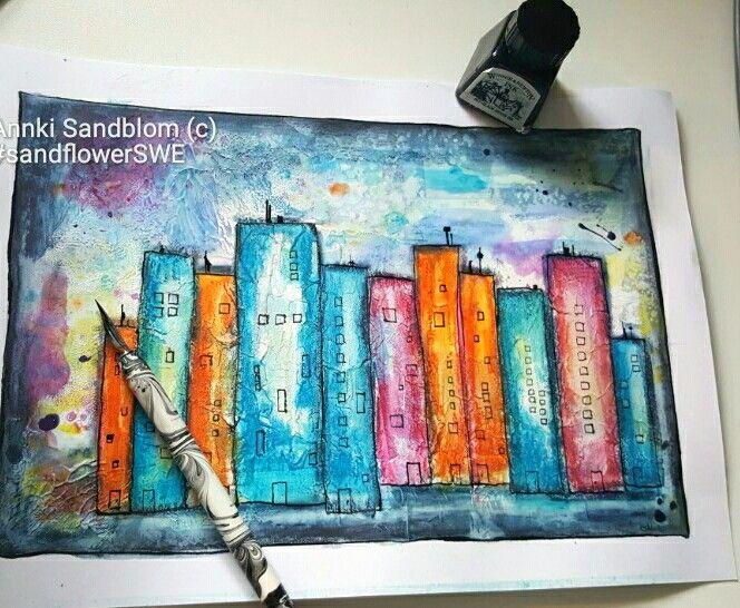 Mixed media, you can follow me on instagram  Annki Sandblom or #sandflowerswe
