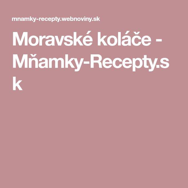 Moravské koláče - Mňamky-Recepty.sk