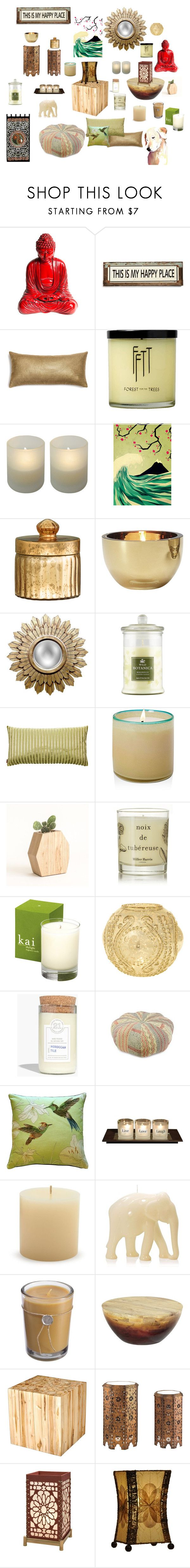 """Calm Meditation Room Decor Ideas"" by missmissymermaid on Polyvore featuring interior, interiors, interior design, home, home decor, interior decorating, Poncho & Goldstein, Monde Mosaic, H&M and LSA International"