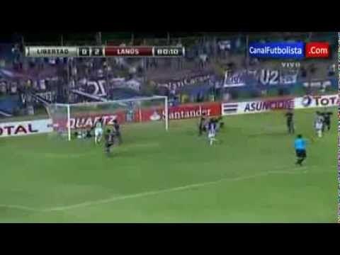 FOOTBALL -  Libertad 1-2 Lanus Copa Sudamericana Semifinals