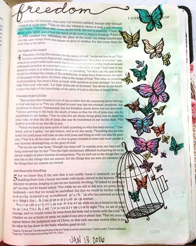 2 Corinthians 3:17 Lindsey Hopkins @linhopart Instagram photos | Websta