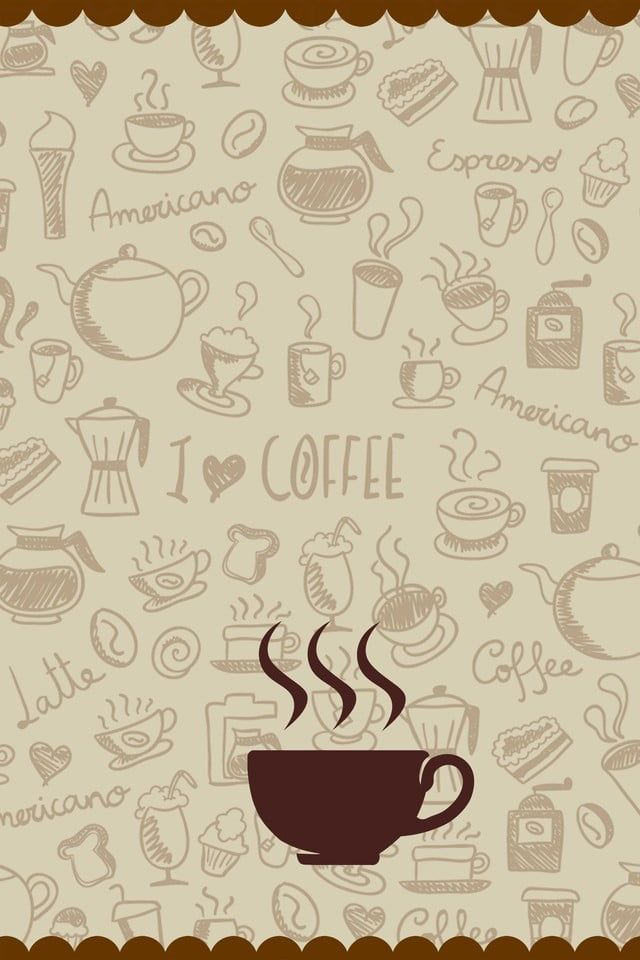 Coffee Shop Poster Background Material Ilustrasi Kartu Ucapan Biji Kopi Karya Seni Kopi