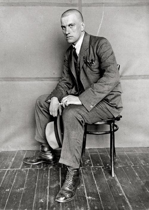 Alexander RODCHENKO :: Portrait of Vladimir Mayakovsky, 1924