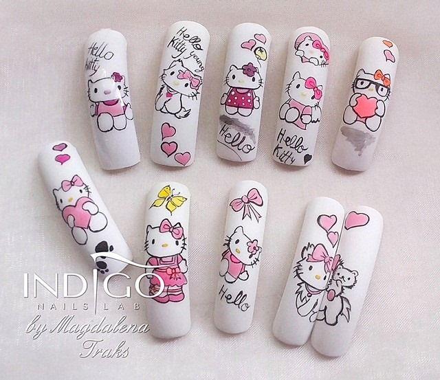 by Magdalena Traks Indigo Gel Polish Double Tap if you like #nails #nailart #nailpolish Find more Inspiration at www.indigo-nails.com