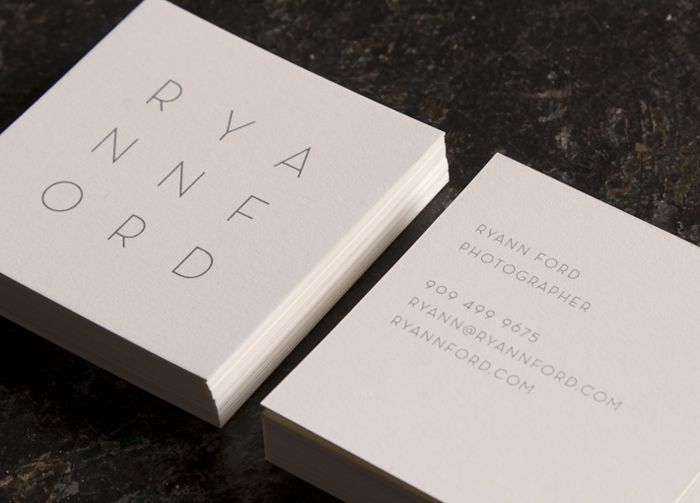 square business cards + personal branding.
