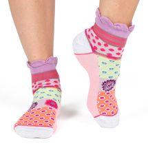 Sesame women's cotton turn-over ankle socks   Designed in France by Dub & Drino