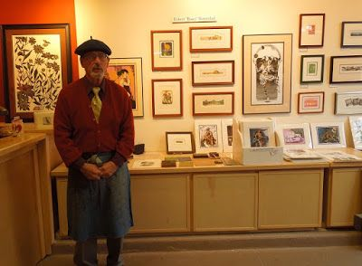 Robert Rosenthal in Print Shop at Studios on the Park, Paso Robles, © B. Radisavljevic