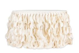 Curly Willow 21ft Table Skirt - Ivory (new tone)