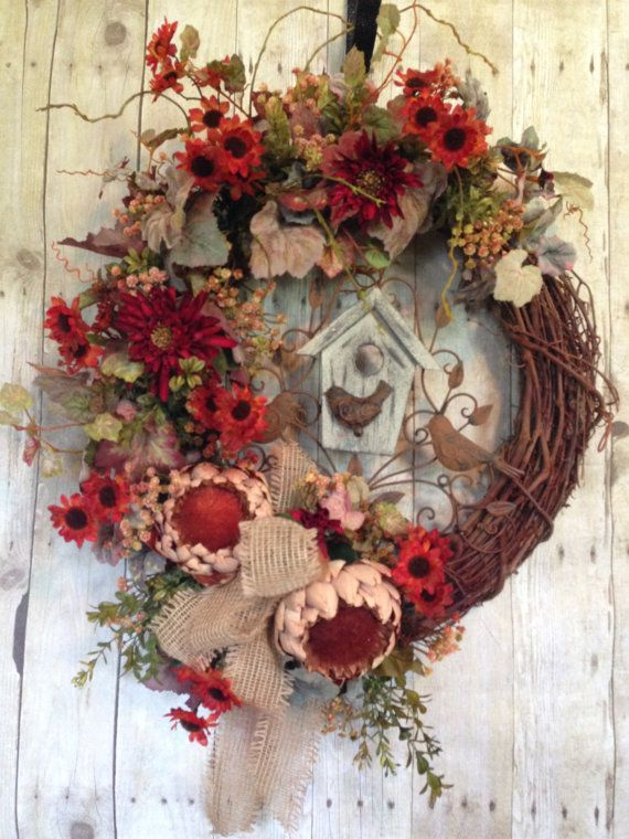 1000 Images About Birdhouse Wreaths On Pinterest