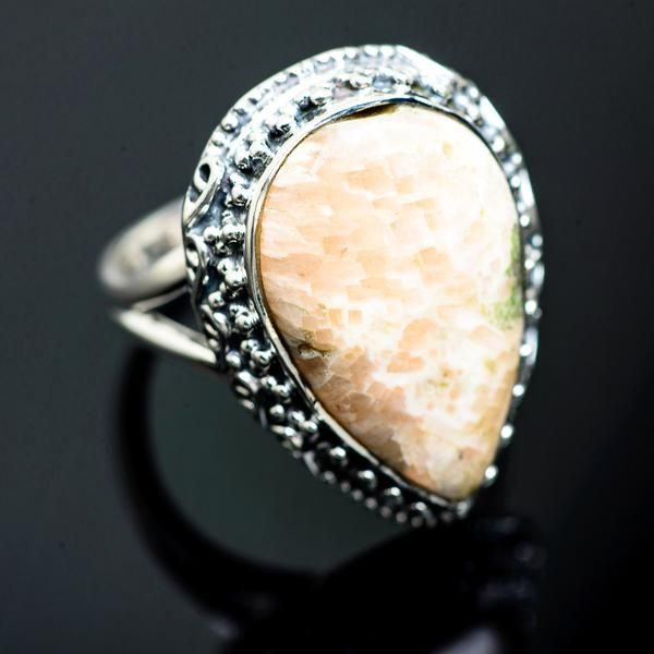 Scolecite Ring Handmade in MA Scolecite Jewelry Sterling Silver Ring