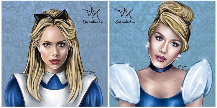 Famosas Brasileiras viram personagens da Disney - Leandra Leal como Alice | Fiorella Mattheis como Cinderela