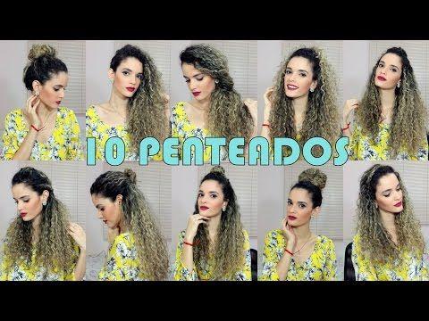 10 PENTEADOS para cabelos CACHEADOS | Luana Alvarenga - YouTube