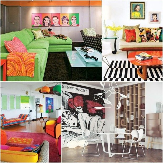 Pop Art Themed Home Decor Ideas 03 620x620 Living Room Interiors Inside Ideas Interiors design about Everything [magnanprojects.com]