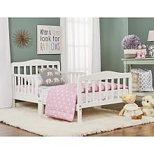 Dream On Me Classic Design Toddler Bed - White
