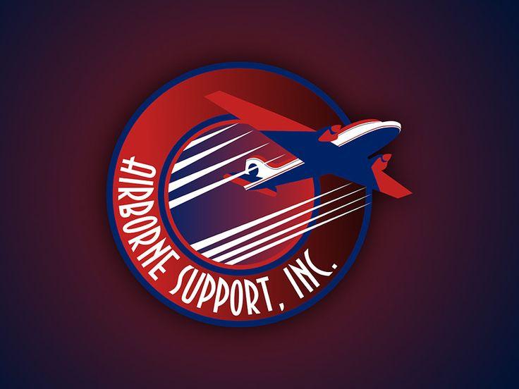 Airborne Support, Inc. logo on YourLogoDude.com