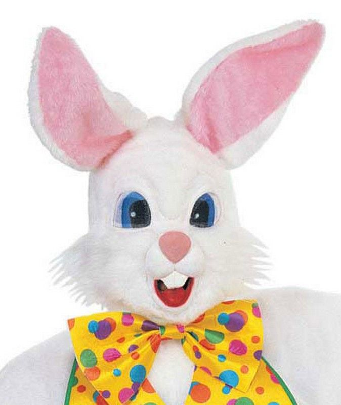 Deluxe Rabbit Masks $64.31 Plush white, oversized bunny mask is parade quality. #Easter #Bunny http://www.halloweencostumes4u.com/prods/az2737.html