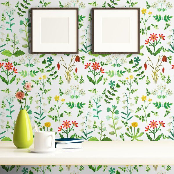Attamore Botanical Removable Peel And Stick Wallpaper Panel Peel And Stick Wallpaper Wallpaper Panels Removable Wallpaper