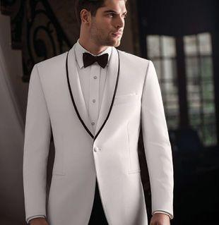 Collins Formal Wear - One button shawl (white)  http://www.collinsformalwear.com/catalogue.html