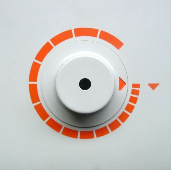 Close-up of dial for unknown Braun product. Design: Dieter Rams