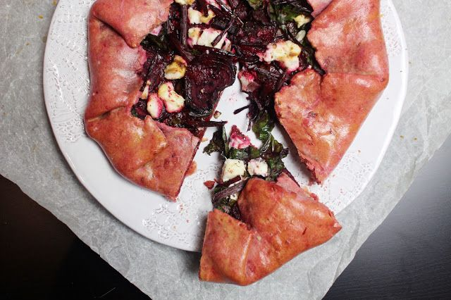 Belleau Kitchen: beetroot and manouri goats cheese galette