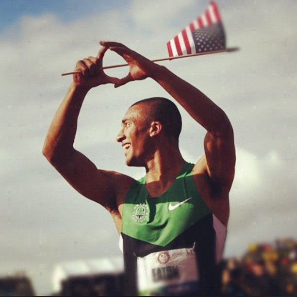 Ashton Eaton during the 2012 Olympic Trials. World's greatest athlete and he's a duck...what could be better?