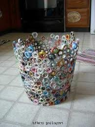 recycled paper basket.  too cute!