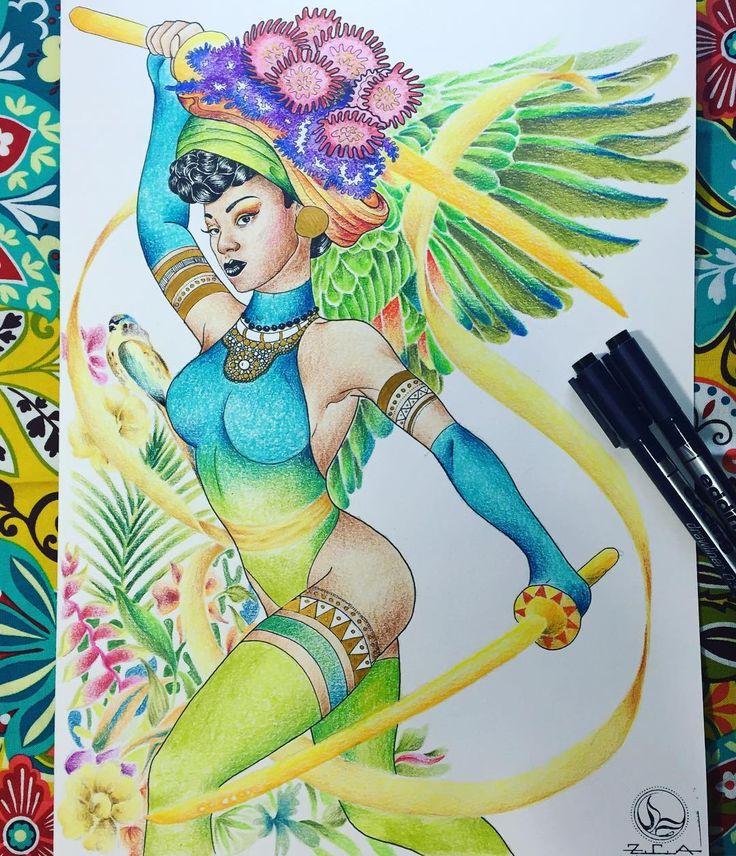 #supergoyo !! mi versión para el concurso de @eddingcolombia porque esta mujer es admirable 😊  #marcadoresparatusideas #edding #illustration #superwoman #drawing #coloring #pencilcolor #superhero #flowers #nature #green @goyocqt