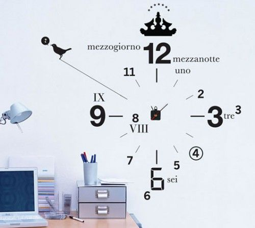 Clock wall decor.. what time is it?