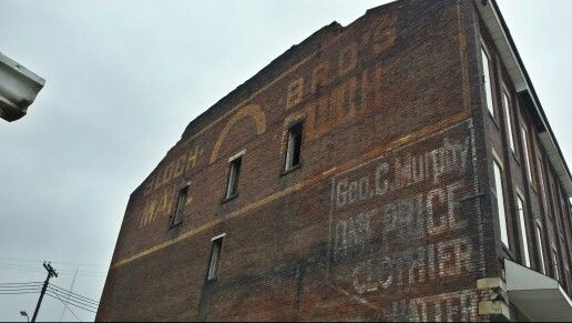 Ghost signs East Liverpool Ohio