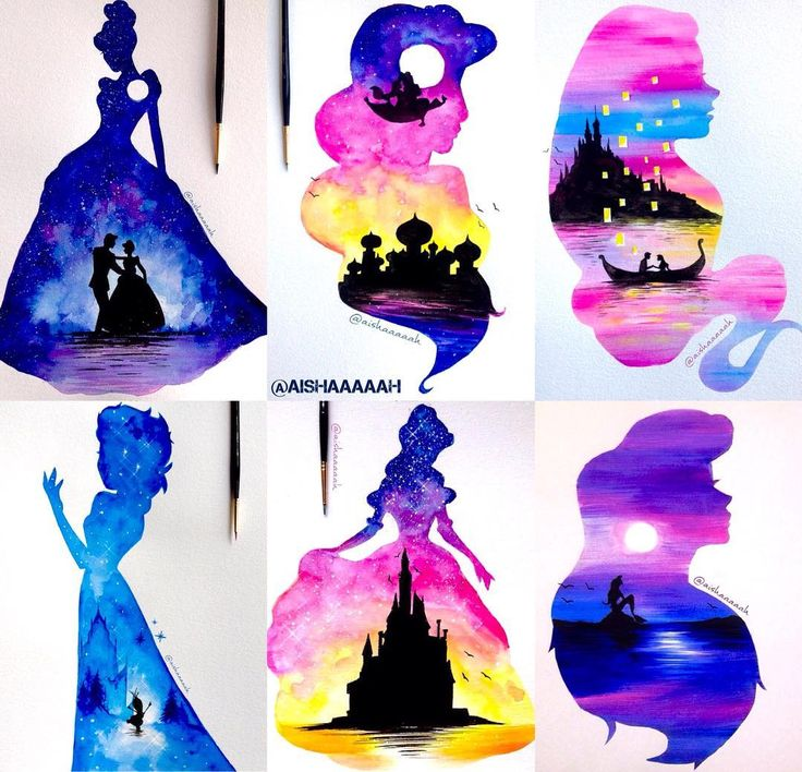 "عائشة on Instagram: ""Disney princess double exposure! Prints available now! Link in bio! :) #disney"""