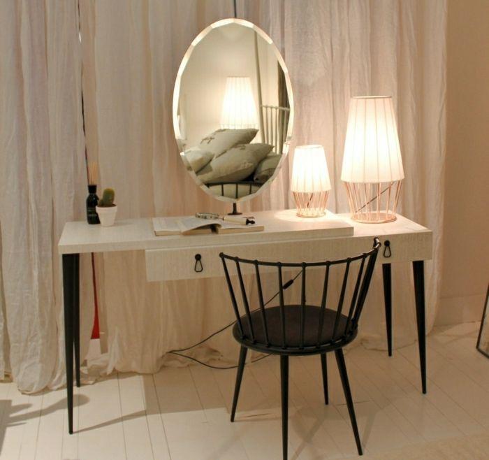 Les 25 meilleures id es de la cat gorie coiffeuse avec for Miroir dans la chambre