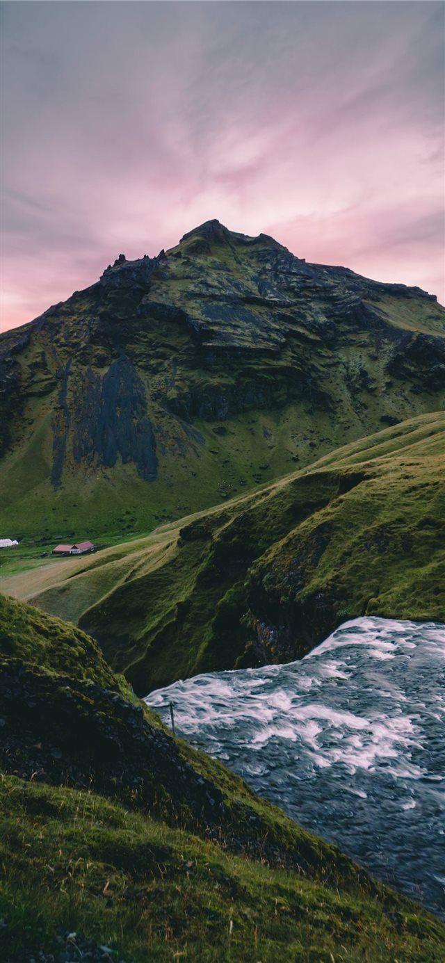 Skògafoss iPhone X wallpaper #nature #sunset #Iceland #skògafoss #Wallpaper  – iLikewallpaper-iOS Wallpaper