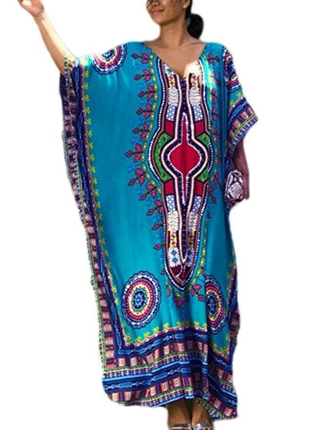 767d0f04709 RESORT WEAR FASHION TRENDS!!! Women Bathing Suits Cover Up Ethnic Print  Kaftan Beach Maxi Dress. Beach vacaion. Kimono, Cover up #ad #resortwear # vacation ...